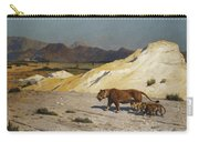 Lioness And Cubs Carry-all Pouch by Jean Leon Gerome