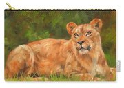 Lioness Carry-all Pouch by David Stribbling