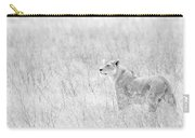 Lioness In Black And White Carry-all Pouch