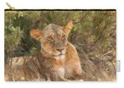 Lioness  Panthera Leo Resting Carry-all Pouch