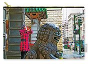 Lions Roar At Entry Gate To  Chinatown In San Francisco-california  Carry-all Pouch