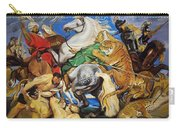 Lions Tigers And Leopard Hunt Homage To Rubens Carry-all Pouch
