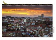 Lisbon At Sunset Carry-all Pouch by Carlos Caetano