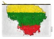 Lithuania Painted Flag Map Carry-all Pouch