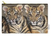 Little Angels Bengal Tigers Endangered Wildlife Rescue Carry-all Pouch