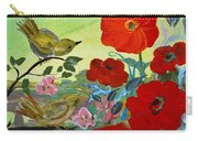 Little Birds And Poppies Carry-all Pouch