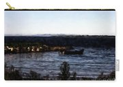 Little Black Boat Abstraction Carry-all Pouch