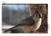 Little Gray Crested Titmouse Bird Ready For Lunch Carry-all Pouch
