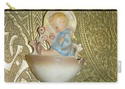Newborn Boy In The Baptismal Font Sculpture Carry-all Pouch