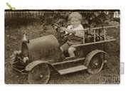 Little Boy In Toy Fire Engine Circa 1920 Carry-all Pouch