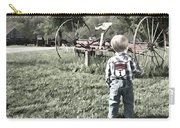 Little Boy On Farm Carry-all Pouch