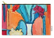 Little Carnations China Pink Flowers Carry-all Pouch by Ana Maria Edulescu