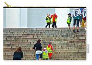 Little Children Climbing Steps Of Lutheran Cathedral Of Helsinki-finland Carry-all Pouch