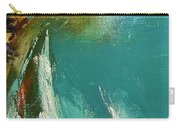 Little Cove Noosa Heads Abstract Palette Knife Seascape Painting Carry-all Pouch