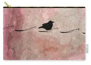 Little Crow In The Pink Carry-all Pouch