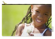 Little Girl Holding Weeds Carry-all Pouch