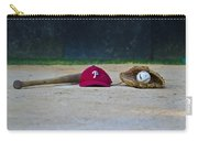 Little League Dreams Carry-all Pouch by Bill Cannon