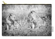 Little Lion Cub Brothers Carry-all Pouch by Adam Romanowicz