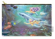 Little Mermaids And Dolphin Carry-all Pouch