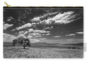 Little Prarie Big Sky - Black And White Carry-all Pouch