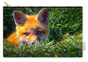 Little Red Fox Carry-all Pouch by Bob Orsillo