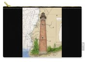 Little Sable Lighthouse Lake Mi Nautical Chart Map Art Cathy Peek Carry-all Pouch