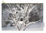 Little Snow Tree Carry-all Pouch by Karen Adams