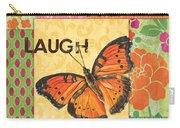 Live Laugh Love Patch Carry-all Pouch by Debbie DeWitt