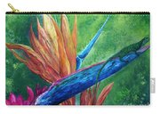 Lizard On Bird Of Paradise Carry-all Pouch