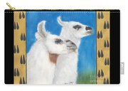 Llamas Tracks Farm Ranch Animal Art Camelid Carry-all Pouch