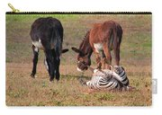 Lmao  Mules And Zebra - Featured In Wildlife Group Carry-all Pouch