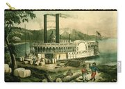 Loading Cotton On The Mississippi, 1870 Colour Litho Carry-all Pouch