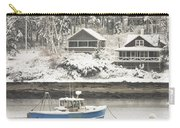 Lobster Boat After Snowstorm In Tenants Harbor Maine Carry-all Pouch by Keith Webber Jr