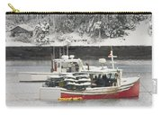 Lobster Boats After Snowstorm In Tenants Harbor Maine Carry-all Pouch by Keith Webber Jr