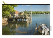 Lobster Traps On Pier In Round Pound On The Coast Of Maine Carry-all Pouch