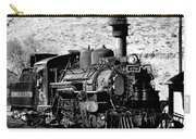 Locomotive Black And White Train Steam Engine Carry-all Pouch