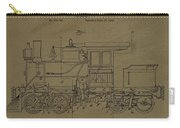 Locomotive Patent Postcard Carry-all Pouch