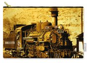 Sepia Locomotive Coal Burning Train Engine   Carry-all Pouch