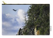 Lofty Bald Eagle Surveys Maines Bold Coast Carry-all Pouch