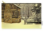 Log Cabin In The Snow Carry-all Pouch
