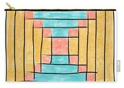 Log Cabin Variation - Retro Seafoam Carry-all Pouch