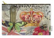 London England Vintage Travel Collage  Carry-all Pouch