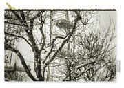 London Eye Through Snowy Trees Carry-all Pouch