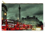 London Red Buses And Routemaster Carry-all Pouch by Jasna Buncic