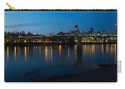 London Skyline Reflecting In The Thames River At Night Carry-all Pouch