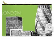 London Skyline The Gherkin Building - Olive Carry-all Pouch