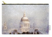 London St Pauls In The Fog Carry-all Pouch by Pixel  Chimp