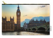 London Uk Big Ben The Palace Of Westminster At Sunset Carry-all Pouch