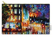 Londons Lights - Palette Knife Oil Painting On Canvas By Leonid Afremov Carry-all Pouch
