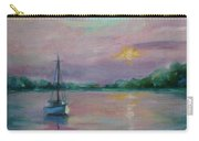 Lone Boat At Sunset Carry-all Pouch